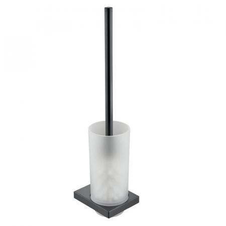 Keuco Edition 11 Szczotka WC z wkładem ze szkła chrom czarny polerowany 11164129000