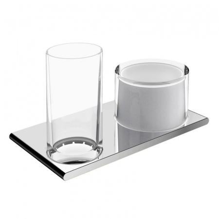 Keuco Edition 400 Zestaw szklanka z dozownikiem na mydło, chrom 11553019000