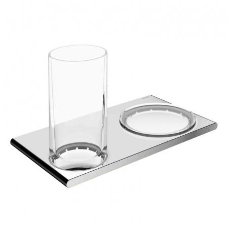 Keuco Edition 400 Zestaw szklanka z mydelniczką, chrom 11556019000