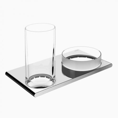 Keuco Edition 400 Zestaw szklanka z pojemnikiem, chrom 11554019000
