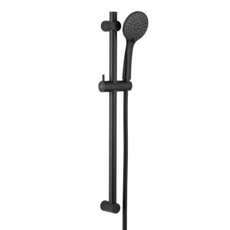 KFA Moza Black Zestaw prysznicowy ścienny czarny 841-365-81