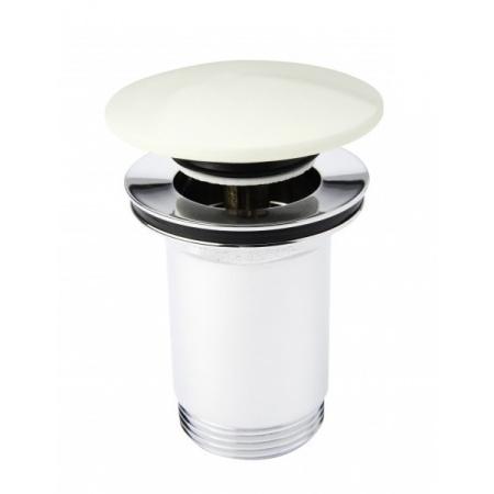 KFA Spust umywalkowy klik-klak z korkiem ceramicznym, biały/kremowy 660-554-40