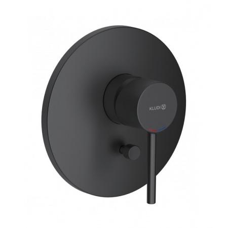Kludi Bozz Black Bateria wannowo-prysznicowa podtynkowa czarny mat 386503976