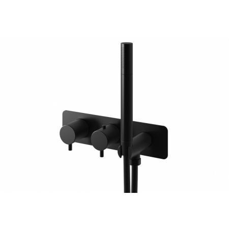 Kohlman Axel Black Bateria wannowa podtynkowa termostatyczna czarny mat QW265AB