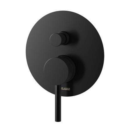 Kohlman Axel Black Bateria wannowo-prysznicowa podtynkowa czarny mat QW210AB