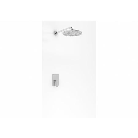 Kohlman Axis Zestaw prysznicowy podtynkowy z deszczownicą 40 cm chrom QW220NR40