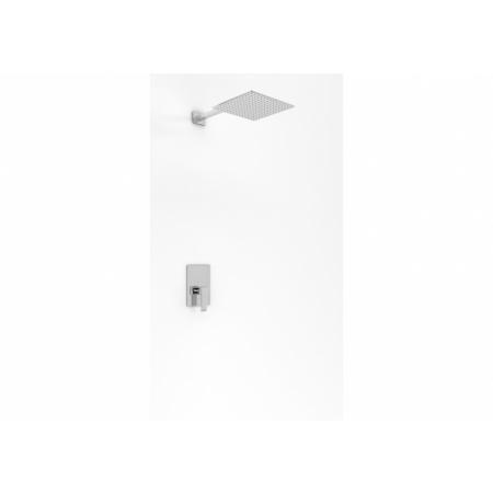 Kohlman Axis Zestaw prysznicowy podtynkowy z deszczownicą 40 cm chrom QW220NQ40