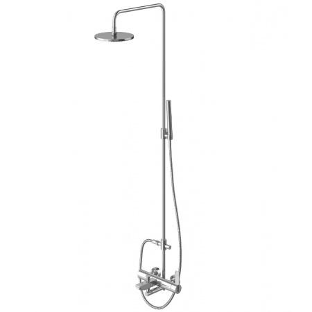Kohlman Dexame Zestaw prysznicowy natynkowy z deszczownicą i wylewką, chrom QW277D