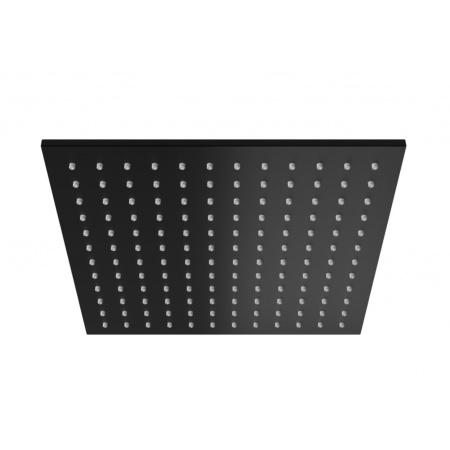 Kohlman Experience Black Deszczownica kwadratowa 25x25 cm, czarny mat Q25EB