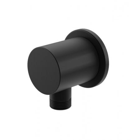 Kohlman Experience Black Przyłącze kątowe wody, czarny mat QW166EB