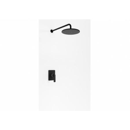 Kohlman Experience Black Zestaw prysznicowy podtynkowy z deszczownicą czarny mat QW220EBR30