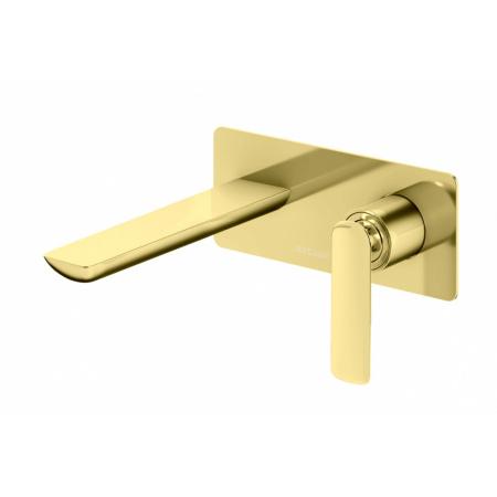 Kohlman Experience Gold Bateria umywalkowa ścienna złota QW185EGD