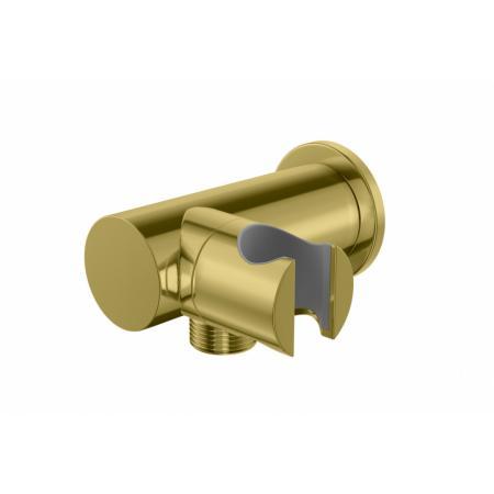 Kohlman Experience Gold Uchwyt prysznicowy z przyłączem złoty QW004AEGD