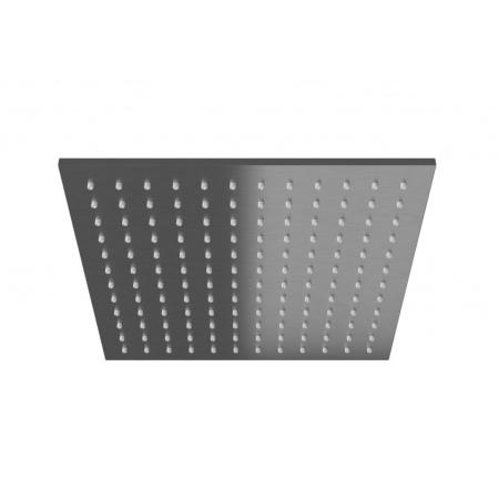 Kohlman Experience Gray Deszczownica kwadratowa 25x25 cm, szczotkowany grafit Q25EG