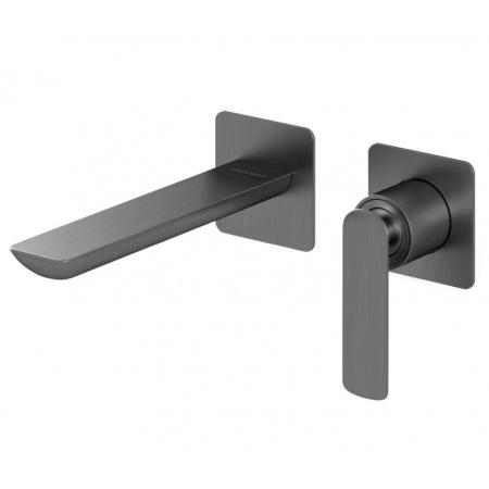 Kohlman Experience Gray Jednouchwytowa bateria umywalkowa podtynkowa, szczotkowany grafit QW180EG