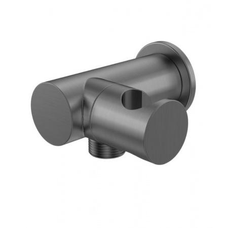 Kohlman Experience Gray Uchwyt prysznicowy z przyłączem wody, szczotkowany grafit QW004AEG