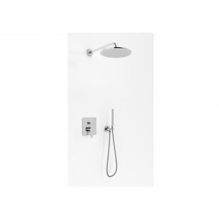 Kohlman Gixs Zestaw prysznicowy podtynkowy z deszczownicą okrągłą 35 cm chrom QW210GR35