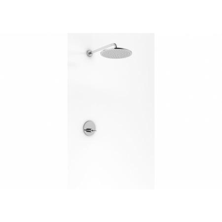 Kohlman Maxima Zestaw prysznicowy podtynkowy z deszczownicą 40 cm chrom QW220MR40
