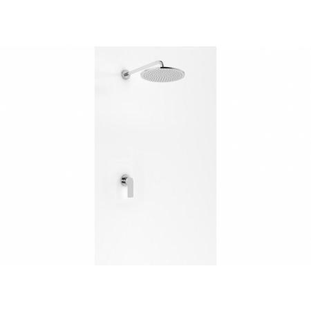 Kohlman Proxima Zestaw prysznicowy podtynkowy z deszczownicą 40 cm chrom QW220PR40