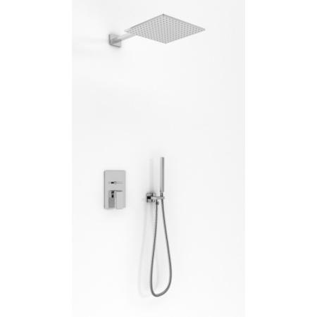 Kohlman Saxo Zestaw prysznicowy podtynkowy z deszczownicą 30x30 cm, chrom QW210SQ30