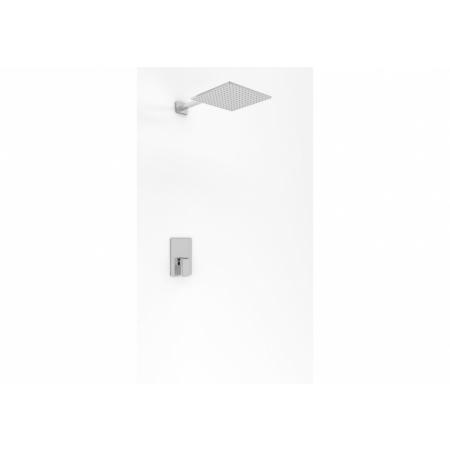 Kohlman Saxo Zestaw prysznicowy podtynkowy z deszczownicą 40 cm chrom QW220SQ40