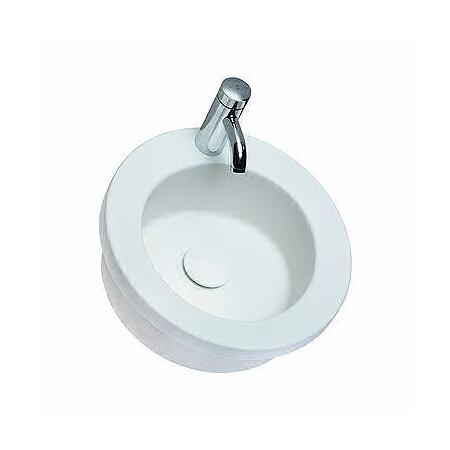 Koło Cocktail Umywalka wpuszczana w blat 45x45x17 cm z otworem na baterię, biała L31845000