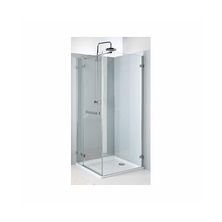 Koło Next Drzwi uchylne 100x195 cm lewe profile srebrne szkło przezroczyste z powłoką Reflex HDSF10222R03L