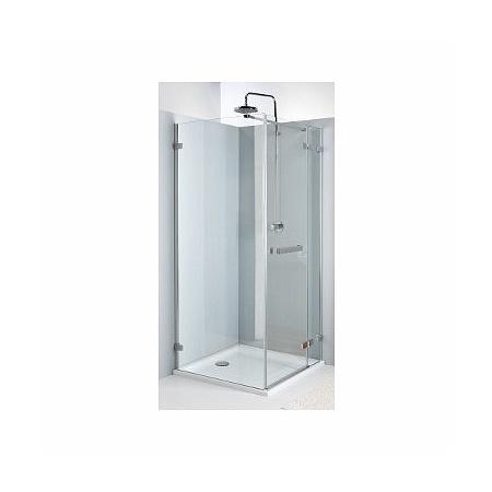 Koło Next Drzwi uchylne 100x195 cm prawe profile srebrne szkło przezroczyste z powłoką Reflex HDSF10222R03R