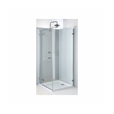 Koło Next Drzwi prysznicowe 120x195 cm z powłoką Reflex lewe, profile srebrne szkło przezroczyste HDSF12222003L