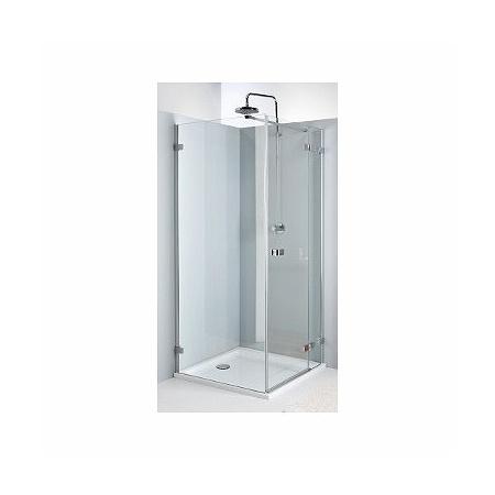 Koło Next Drzwi uchylne 80x195 cm prawe profile srebrne szkło przezroczyste z powłoką Reflex HDSF80222R03R