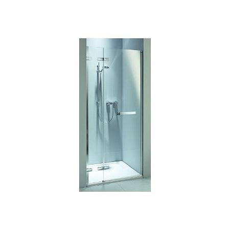Koło Next Drzwi uchylne 100x195 cm lewe profile srebrne szkło przezroczyste z powłoką Reflex HDRF10222R03L
