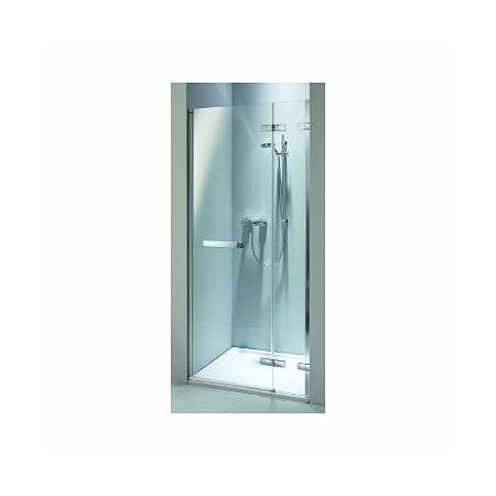 Koło Next Drzwi uchylne 120x195 cm prawe profile srebrne szkło przezroczyste z powłoką Reflex HDRF12222R03R