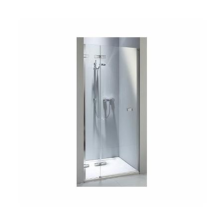 Koło Next Drzwi prysznicowe 80x195 cm z powłoką Reflex lewe, profile srebrne szkło przezroczyste HDRF80222003L