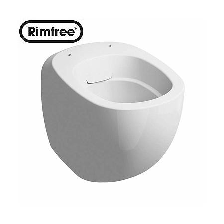 Koło Ego by Antonio Citterio Toaleta WC podwieszana 35x57x36,5 cm lejowa Rimfree z powłoką Refleks, biała K13122900