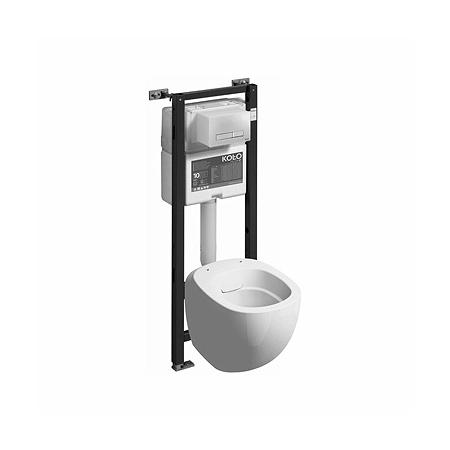 Koło Ego by Antonio Citterio Toaleta WC podwieszana 35x57x36,5 cm ze stelażem i systemem Smart Fresh z powłoką Refleks, biała 99389900