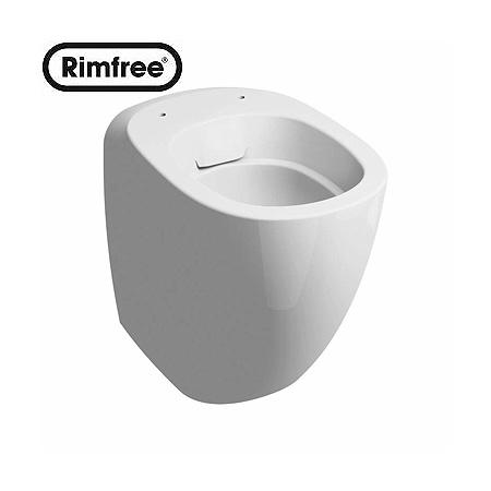 Koło Ego by Antonio Citterio Toaleta WC stojąca 34,8x57x41 cm Rimfree z powłoką Refleks, biała K13020900
