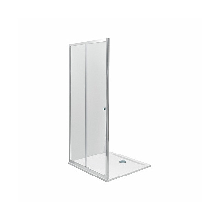 Koło First Drzwi prysznicowe 100x190 cm, profile srebrne szkło przezroczyste ZDDS10222003