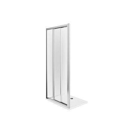 Koło First Drzwi prysznicowe 90x190 cm, profile srebrne szkło przezroczyste ZDRS90222003