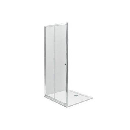 Koło First Drzwi prysznicowe 120x190 cm, profile srebrne szkło przezroczyste ZDDS12222003
