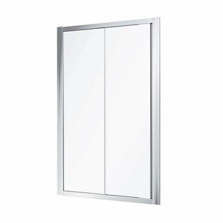 Koło Geo 100 Drzwi prysznicowe przesuwne 100x190 cm profile srebrny połysk szkło przezroczyste Reflex 560.133.00.3