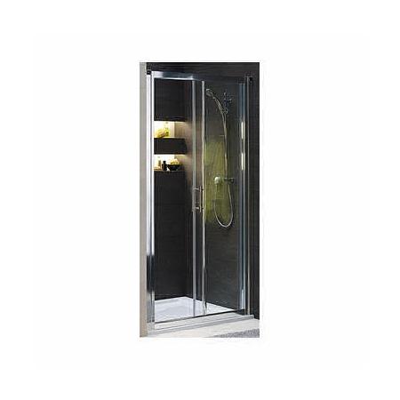Koło Geo 6 bifold Drzwi prysznicowe 100x190 cm Prismatic, profile srebrne szkło przezroczyste GDRS10205003