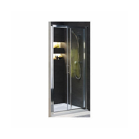Koło Geo 6 bifold Drzwi prysznicowe 100x190 cm z powłoką Reflex, profile srebrne szkło przezroczyste GDRS10R22003