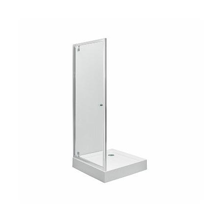 Koło First Pivot Drzwi prysznicowe 80x190 cm, profile srebrne szkło przezroczyste ZDRP80222003