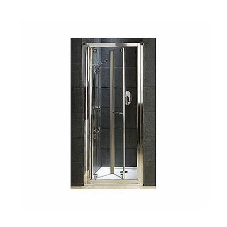 Koło Geo 6 bifold Drzwi prysznicowe 80x190 cm z powłoką Reflex, profile srebrne szkło przezroczyste GDRB80R22003