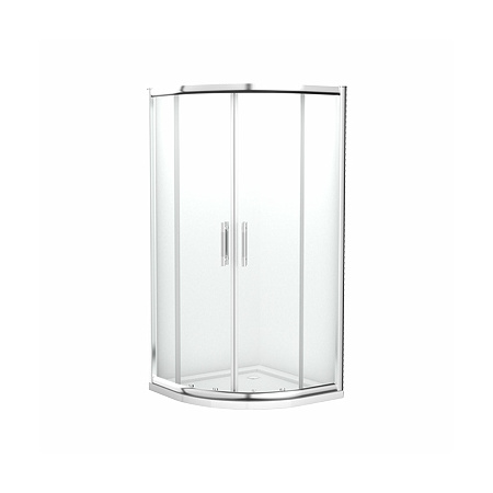 Koło Geo 6 Easy Kabina prysznicowa półokrągła 90x90x190 cm z powłoką Reflex, profile srebrne szkło przezroczyste WKPG90222003