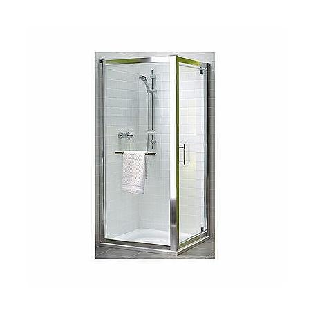 Koło Geo 6 Pivot Drzwi prysznicowe 90x190 cm Prismatic, profile srebrne szkło przezroczyste GDRP90205003
