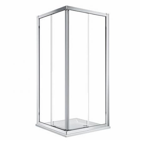 Koło Geo 80 Kabina prysznicowa kwadratowa 80x80x190 cm profile srebrny połysk szkło przezroczyste Reflex 560.112.00.3