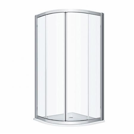 Koło Geo 80 Kabina prysznicowa półokrągła 80x80x190 cm profile srebrny połysk szkło przezroczyste Reflex 560.110.00.3