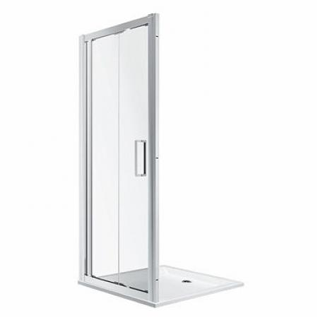 Koło Geo 90 Drzwi prysznicowe składane 90x190 cm profile srebrny połysk szkło przezroczyste Reflex 560.126.00.3
