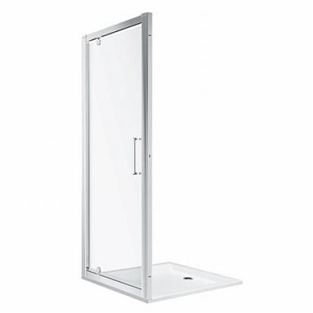 Koło Geo 90 Drzwi prysznicowe uchylne 90x190 cm profile srebrny połysk szkło przezroczyste Reflex 560.125.00.3